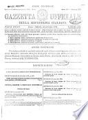 Gazzetta Ufficiale Della Republica Italiana