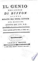 Genio (M) del signor di Buffon ...