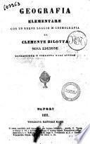 Geografia elementare da Clemente Bilotta