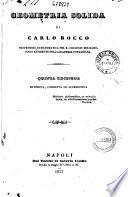 Geometria solida di Carlo Rocco