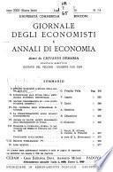 Giornale degli economisti e annali di economia