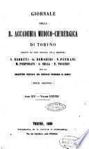Giornale della R. Accademia medico-chirurgica di Torino