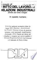 Giornale di diritto del lavoro e di relazioni industriali