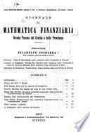 Giornale di Matematica Finanziaria