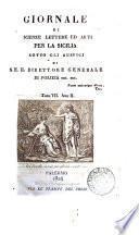 Giornale di scienze, letteratura ed arti per la Sicilia