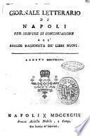 Giornale letterario di Napoli per servire di continuazione all'Analisi ragionata de' libri nuovi