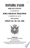 Giovanna d'Arco dramma lirico in quattro parti