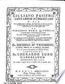 Giuliano Passero, cittadino napoletano, o sia Prima pubblicazione in istampa, che delle storie in forma di giornali, le quali sotto nome di questo autore finora erano andate manoscritte