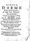 Giuoco d'arme dei sovrani, e degli stati d'Europa. Per apprender l'arme, la geografia e la storia loro curiosa (etc.)