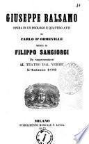 Giuseppe Balsamo opera in un prologo e quattro atti di Carlo D'Ormeville