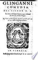 Gl'inganni comedia del signor N.S. recitata in Milano dinanzi alla maestà del re Filippo