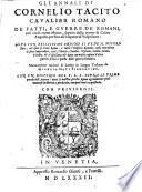 Gli Annali (etc.) Nuovamente trad. di Latino in Lingua Toscana da Giorgio Dati