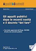 """Gli appalti pubblici dopo le recenti novità e il decreto """"del fare"""""""