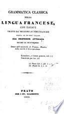Grammatica classica della lingua francese