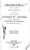 Grammatica della lingua illirica. Edizione seconda