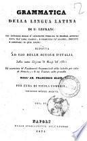 Grammatica della lingua latina di E. Lefranc