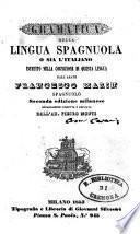 Grammatica della lingua spagnuola, ossia L'italiano istruito nella cognizione di questa lingua