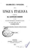 Grammatica novissima della lingua italiana