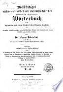 Gran dizionario grammatico-pratico tedesco-italiano, italiano-tedesco