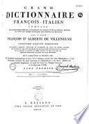Grand dictionnaire françois-italien