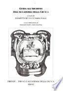 Guida all'Archivio dell'Accademia della Crusca