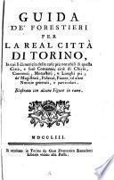 Guida de'forestieri per la real città di Torino