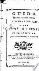 Guida per osservare con metodo le rarità e bellezze della città di Firenze