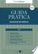 GUIDA PRATICA Operazioni straordinarie 2021 - Sistema Frizzera