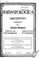 Haematologica, archivio