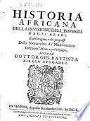 Historia Africana della divisione dell'Imperio degli Arabi