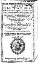 Historia de la vita e de la morte de l'illustriss. signora Giovanna Graia