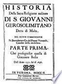 Historia della Sacra religione militare di S. Giovanni Gerosolimitano detta di Malta