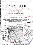 Historia Natvrale Di G. Plinio Secondo