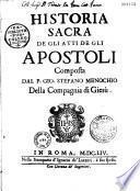 Historia sacra de gli atti de gli apostoli
