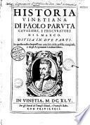 Historia venetiana di Paolo Paruta