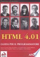HTML 4.01. Guida per il programmatore