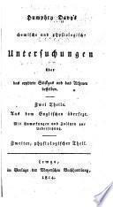Humphry Davy's Chemische und physiologische Untersuchungen über das oxydirte Stickgas und das Athmen desselben .. Aus dem englischen übersezt. ...