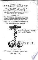 I cinque libri della legge, religione et vita de Turchi et della corte, et d'alcune guerre del Gran. Turco. Oltre cio, una prophetia de Mahomettani (etc.)