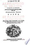 I fatti d'Alessandro il Grande
