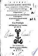 I libri dei semplici purgativi, et delle medicine composte