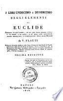I Libri Undecimo E Duodecimo Degli Elementi Di Euclide