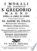 I Morali Del Pontefice S. Gregorio Magno Sopra Il Libro Di Giobbe