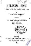 I Promessi Sposi, storia Milanese del secolo XVII