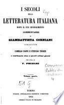 I secoli della letteratura italiana dopo il suo risorgimento
