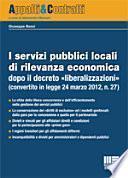 I servizi pubblici locali di rilevanza economica