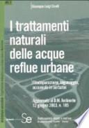 I Trattamenti naturali delle acque reflue urbane