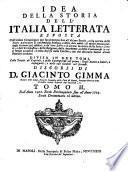 Idea Della Storia Dell'Italia Letterata