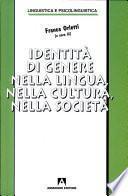 Identità di genere nella lingua, nella cultura, nella società
