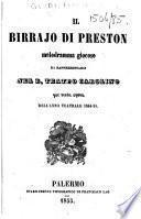 Il Birrajo di Preston. Melodramma giocoso, da rappresentarsi nel R. Teatro Carolino, per sesta opera dell'anno teatrale 1854-55