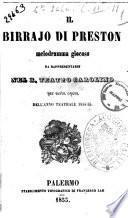 Il birrajo di Preston melodramma giocoso da rappresentarsi nel R. Teatro Carolino per sesta opera dell'anno teatrale 1854-55 [poesia del signor Francesco Guidi